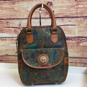 Vintage Leather Golf Coated Canvas Golfana Bag